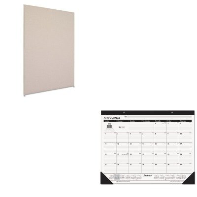 KITAAGSK2400BSXP7248GYGY - Value Kit - Basyx Vers Office Panel (BSXP7248GYGY) and At-a-Glance Recycled Desk Pad (AAGSK2400)