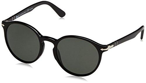 Persol  Men's 0PO3171S Black/Crystal Green Polarized - Persol Sunglasses Warranty