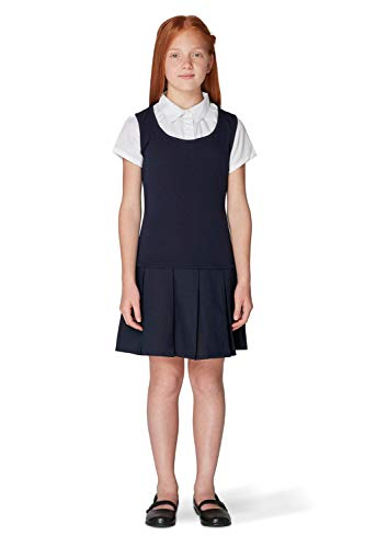 French Toast Big Girls' Twofer Pleated Dress, Navy,, used for sale  Delivered anywhere in USA