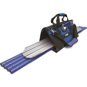 MARSHALLTOWN The Premier Line BFKIT5 Finisher's Tote with Round End Bull Float, Rock-It Bracket and QLT Handles