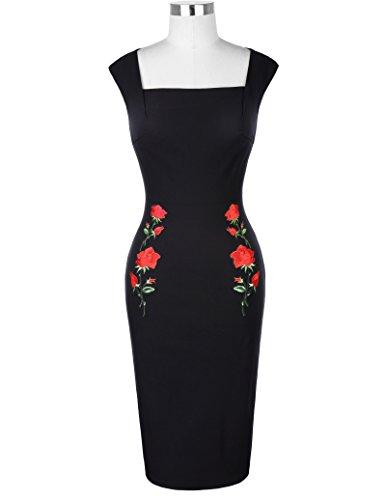 Belle Poque 1950er Style Vintage Kleid Etuikleid Knielang ...