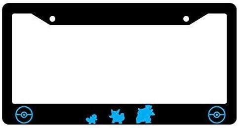 Wartortle BIN SHANG Squirtle Blastoise Bottom Black Metal License Plate Frame Pokemon 3