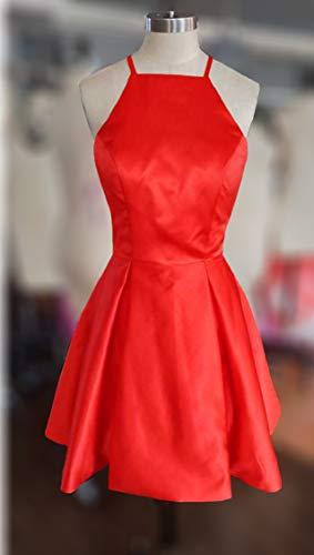 Tbgirl Bracelet Mignon Robes De Retour À La Maison Rouge Mini Court Blush Robe De Cocktail