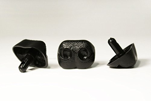 Black Safety Craft Animal Nose for Bear Puppet Doll Made in Japan Style-A 30mm 2pcs/pkg