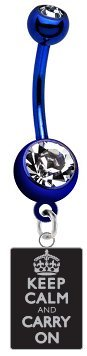 keep-calm-carry-on-black-metal-charm-on-premium-blue-titanium-anodized-sexy-cute-belly-button-navel-