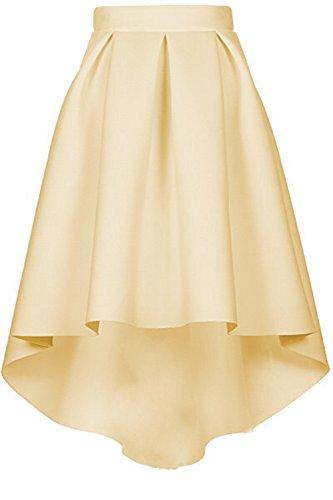 Jupe Vintage CoutureBridal au Elgante Jupe Champagner Haute Femme Genou Haille wxxUqCI