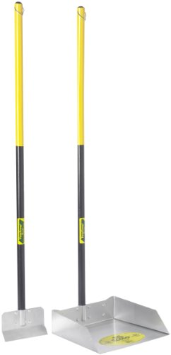 Flexrake 67W Large Scoop and Spade Set with 36-Inch Cherry Stained Wood Handle ()