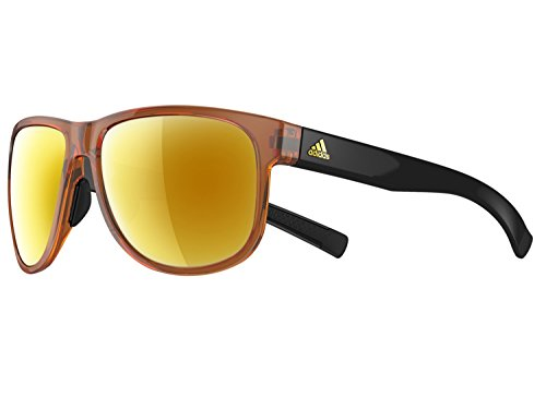 ADIDAS Sprung A429 Sunglasses (Brown Shiny Black/Gold Mirror, one -