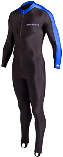 NeoSport Full Body Sports Skins Full Body Sports Skins, Blue Trim, L - Diving, Snorkeling & - Wetsuit Men