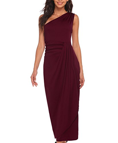 - Etuoji Women's One Shoulder grecian style full length prom dress