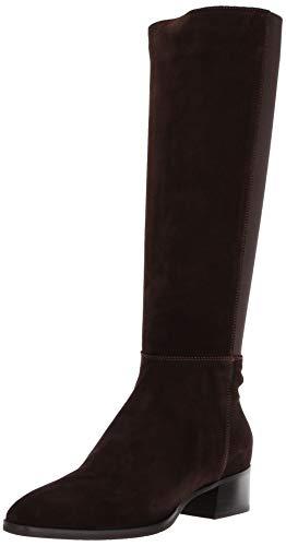 Aquatalia Women's Finola Suede/Elastic Fashion Boot, Espresso, 8 M US