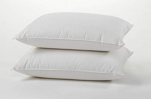 Luxury Duck Feather Down Pillows Pair, Soft & Comfortable Hotel Quality 100% Cotton Highliving ®