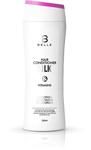 Belle® Seda y vitaminas Cabello Cuidado – con seda, Vitamina E y pro-