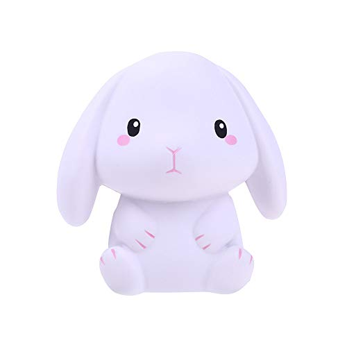 Super Sticky Sweet Pea - Squishies Adorable Rabbit Slow Rising Cream Squeeze Scented Stress Relief Toys (A, one Size)