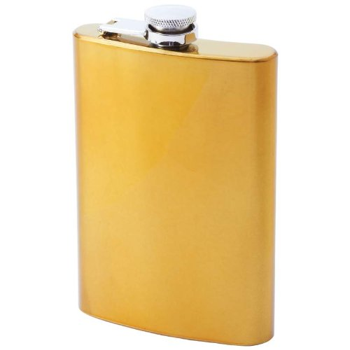 8OZ GOLDTONE SURGICAL SS FLASK product image
