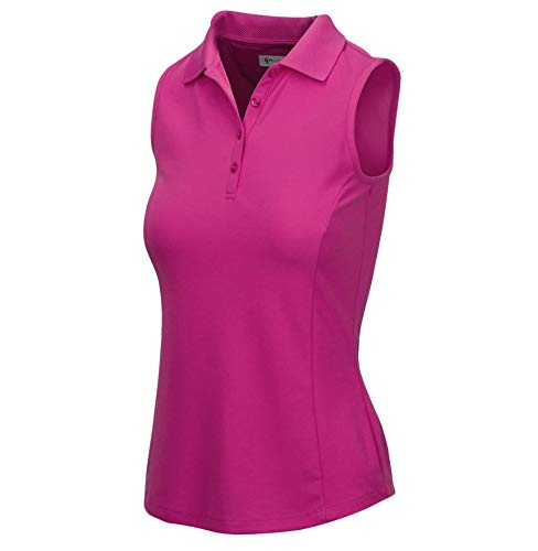 Greg Norman Womens Protek Micro Pique Sleeveless Polo Purple S by Greg Norman