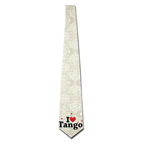 ONESEDA Men`s I Love Tango Tie Necktie Ties (Neckties Tango)