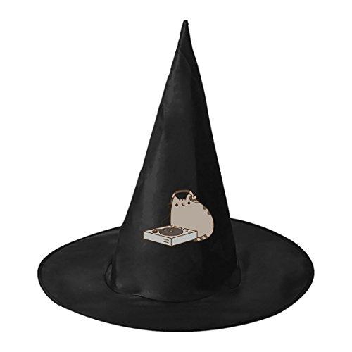 Halloween hat Pusheen the Cat Guys Black Witch Costume Headwear for Halloween