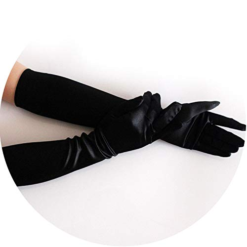 Satin Long Finger Elbow Sun Protection Gloves Opera Evening Party Prom Costume Cooktail Gloves Women