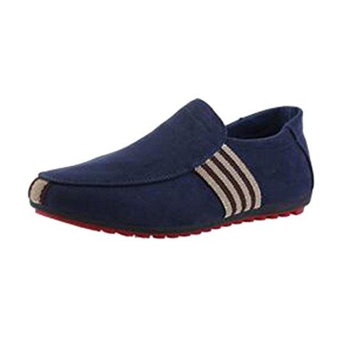 De Juleya Zapatos Mocasín Zapatos Conducción Zapatos De Azul Respirables Zapatos De Guisantes Hombres Hombre aqrxEwBqf