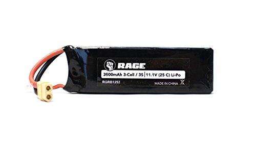 Rage R/C - 11.1V 3S 25C 3600mAh Li-Po Battery w/ XT60; SC700BL Super Cat