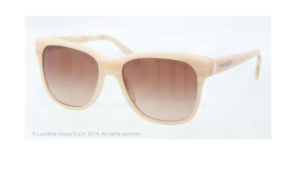 f29cd47a7d7e Amazon.com: Ralph Lauren RL8115 Sunglasses-530513 Shiny Cream Horn (Brown  Gradient)-55mm: Shoes