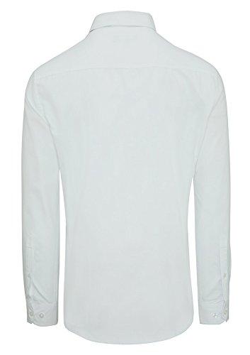 Shirt Occasionwear Intelligente Gli Vestito Webster Per Della Lunghe Poliestere 5xl Sottile Maniche Fondono Uomini Uscire Tarocash Xs Bianco Taglie Fit Sottile q1gHngwxUt