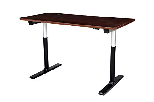 ApexDesk Vortex Series 60 2-Button Electric Height Adjustable Sit to Stand Desk English Walnut Top with 2-Button Controller
