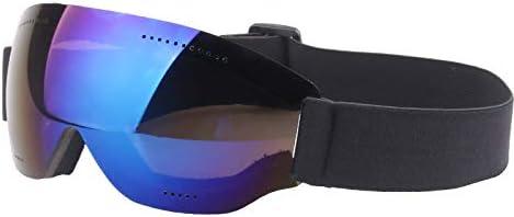 スキー スノーボード スノーミラー ゴーグル 単層 大きな球面表面 紫外線防止 大きなスペースで着用可能 近視スノーミラーフロントガラス 男性、女性、ティーンエイジャーに最適
