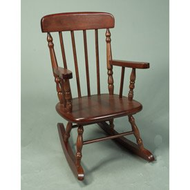 Child's Spindle Rocking Chair - Color: Cherry