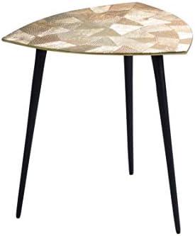 In De Mode HomeTrends4You Singh 1 salontafel/bijzettafel/tafelset, metaal, goud, diameter, hoogte 40 cm  S8gicCz