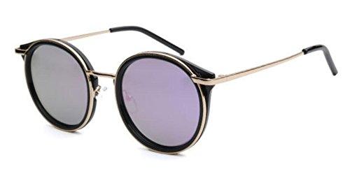 Redondo De Lady Marco Moda Sol De Sol De Gafas De Gafas De Morado Viaje gqUIX0