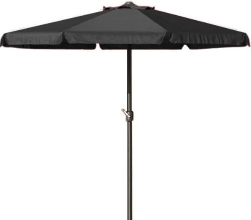 Para sombrilla XXL grande de jardín paraguas parasol de manivela mango 3, 5 m de diámetro 100% poliéster resistente al agua negro y gris: Amazon.es: Jardín