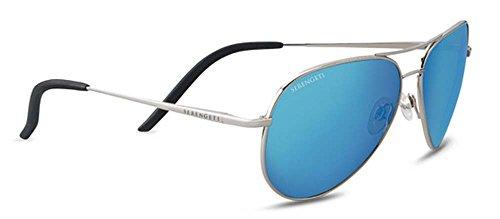 Serengeti Carrara Sunglasses Shiny Silver, Blue