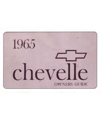 1965 CHEVROLET CHEVELLE Owners Manual [eb6093NN]