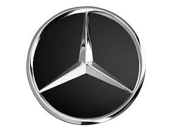Mercedes-Benz Original AMG radnabenabdeckung Diá metro Aprox. 74 –  75 mm Negro/Plata/Corona Laurel/AMG radnabenabdeckungen Buje Tapa