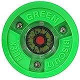 Green Biscuit Alien LED Light Passing Stick Handling Training Hockey Puck