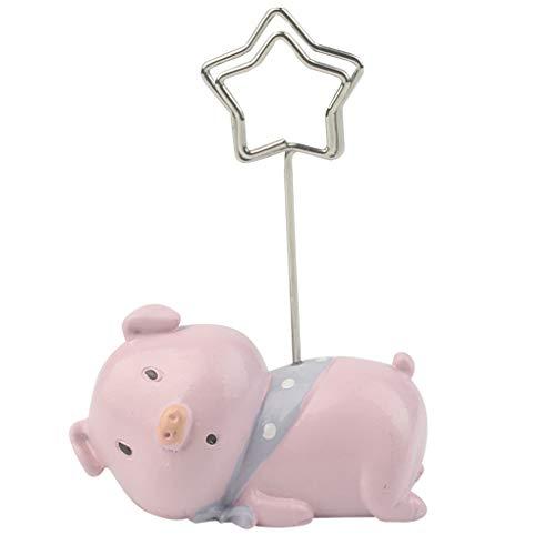 (Arichtops 2pcs Memo Holder Cartoon Note Stand Holder Clip Star Shape Resin Table Number Holder Desk Decorations)