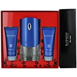 Givenchy Pour Homme Blue Label Gift Set w/ EDT Spray 3.3 Oz. + Hair & Body Shower Gel 2.5 Oz. + After Shave Moisturizing Balm Alcohol Free 2.5 Oz.