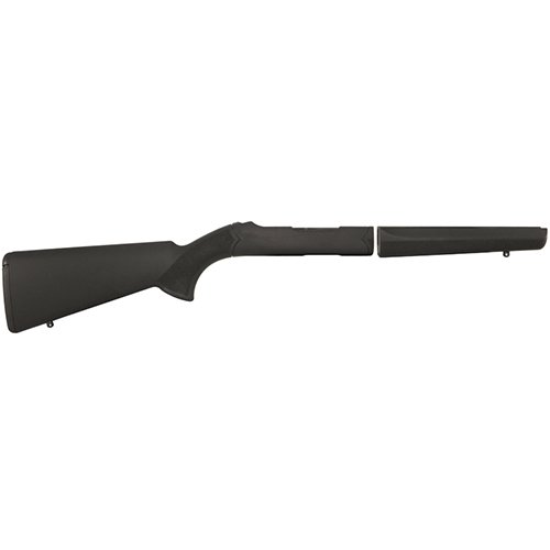 Overmolded Rifle Stocks - Hogue 21040 10/22 Takedown Standard Barrel Rubber OverMolded Stock, Black