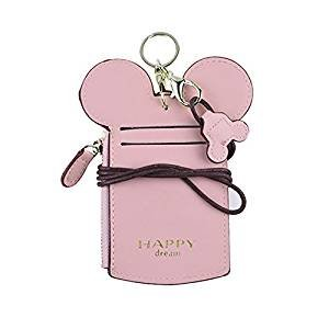 Neck Pouch, Card Holder Wallet Purse Neck Bag Travel Documents, Cute Animal Shape for Women (Pink) Yeeda