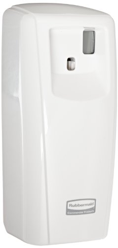 Lcd Controls - Rubbermaid Commercial FG401218 Microburst 9000 Aerosol Odor Control LCD Dispenser, White, 3.56