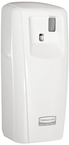 Rubbermaid Commercial FG401218 Microburst 9000 Aerosol Odor Control LCD Dispenser, White, 3.56