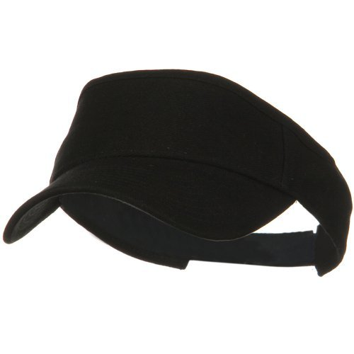 Brushed Bull Denim Sun Visor - Black OSFM