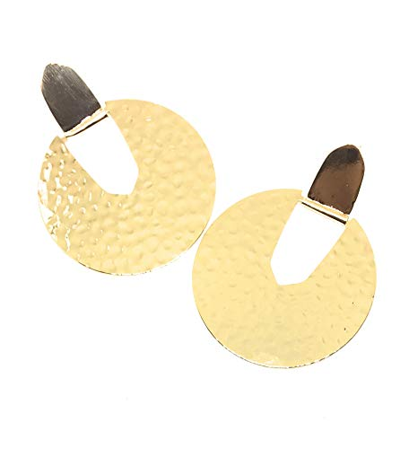 Inspired Fashion Jewelry Big Statement Circle Earring in Gold Tone