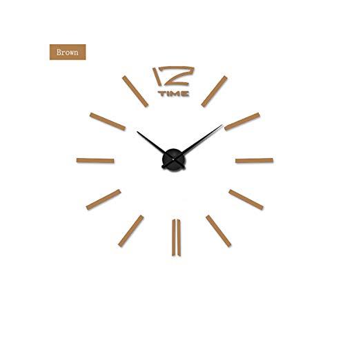 yuan kun Quartz Clocks Watches 3D Real Big Wall Clock Rushed Mirror Sticker DIY Living Room Decor