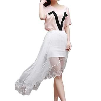 Ludzzi - Vestido de Verano para Mujer y niña, Cintura Alta, con ...