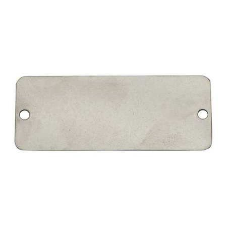 C.H. Hanson C H Hanson 1-7/16'' x 3-1/16'' Gold Anodized Aluminum Rectangle Blank Metal Tag with Notched Corners - 5 pk.