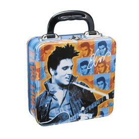 Elvis Presley King of Rock and Roll Tin Tote Lunch Box New Gift from ()