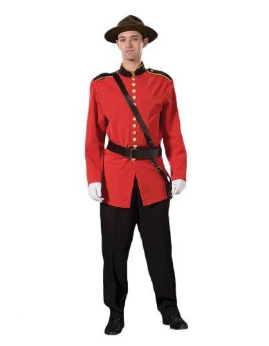 Men's Deluxe Canadian Mountie Uniform Costume, XXLarge